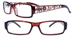 These are nice colorful Cat Eye Reading Glasses.